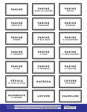 Load image into Gallery viewer, FRENCH pantry label set