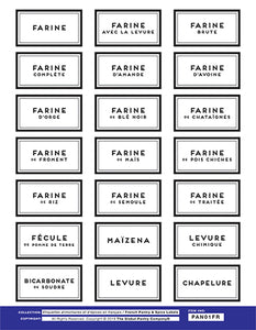 FRENCH pantry label set