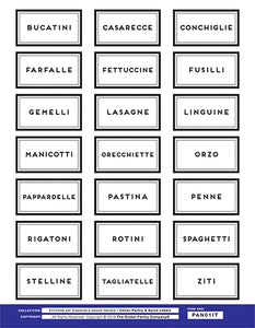 ITALIAN pantry label package (All 4 sheets)