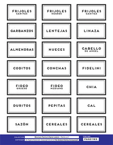 MEXICAN pantry labels - Sheet 1