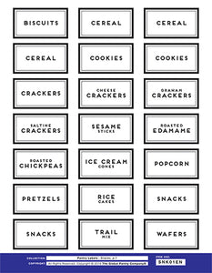 ENGLISH : Pantry Label Package (All 8 sheets)