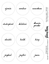 Load image into Gallery viewer, CLEAR Hindi spice set (white)