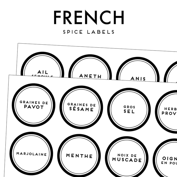 FRENCH spices set