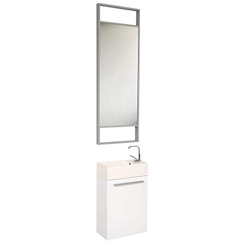 Fresca Pulito 16 x 9 Small White Modern Bathroom Vanity FVN8002WH (Renewed)