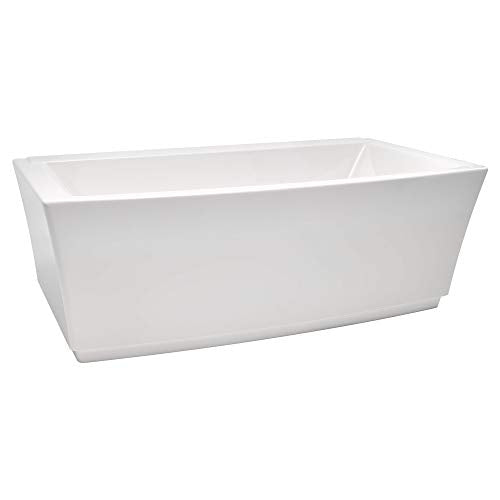 American Standard 2691004.020 Townsend 68 in. Acrylic Freestanding Soaker Bathtub, White