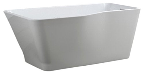 Bellaterra Home BA6818 Florence 59 inch Freestanding Bathtub in Glossy White