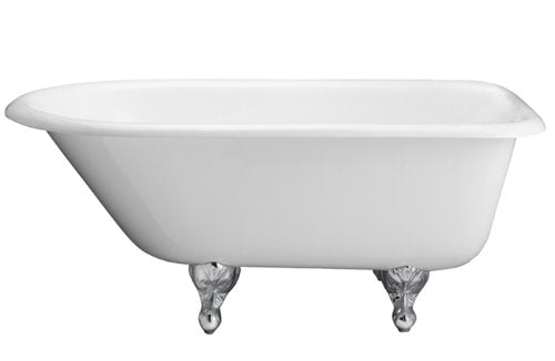 Barclay CTR67-WH-WH Cast Iron Roll Top Soaking Tub