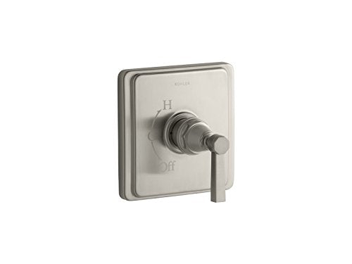 Kohler TS13135-4A-BN K-TS13135-4A-BN Pinstripe Pure Rite-Temp Valve Trim with Lever Handle Vibrant Brushed Nickel