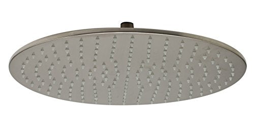 "ALFI brand LED16R-BN Brushed Nickel 16"" Round Multi Color LED Rain Shower Head"