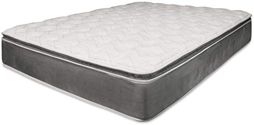 Acme Furniture Pillow Top Mattress in Gray (Eastern King: 80 in.L x 76 in.W x 14 in.H (95lbs.))