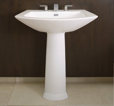 TOTO Lt962-11 Soiree Pedestal Single Hole Basin, Colonial White