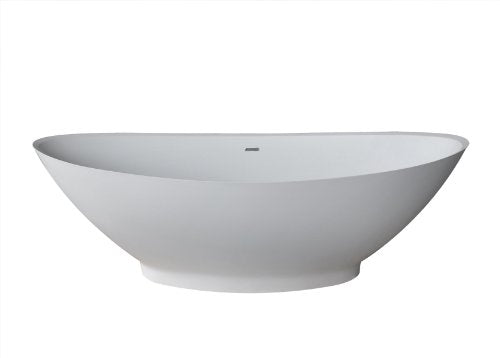 Atlantis Whirlpools 7233lcsxcwxx Lucea Oval Soaking Bathtub, 34 X 73, Center Drain, White