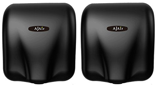 AjAir Black <2 Pack>Heavy Duty Commercial 1800 Watts High Speed Automatic