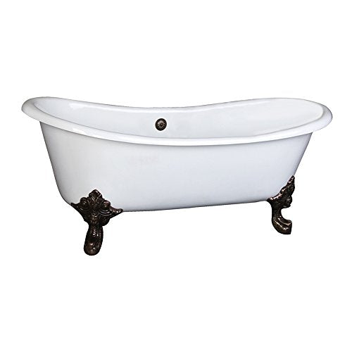 "Barclay Nelson 73"" CI Dbl Slipper Tub,"