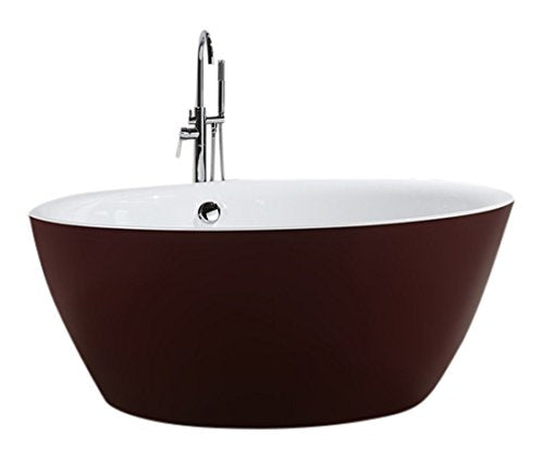 "Bellaterra Home BA6832RD Prato 59 inch Freestanding Bathtub in Glossy Red 59"","