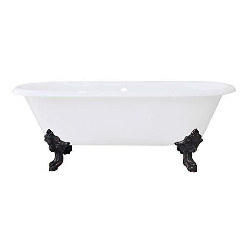 Kingston Brass VCTDE7232NL5 Aqua Eden Clawfoot Tub White/Oil Rubbed Bronze