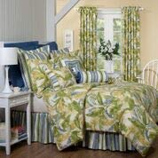 Cayman II w/Stripe Comforter Set w/15 Bed Skirt Drop (Cal King, 4 pc Set)