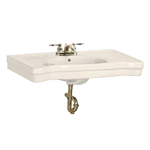 """Belle Epoque"" Bone China Wall Mount Console Sink 4"" Centerset Faucet Hole European Luxury Style"