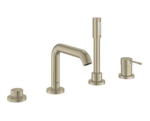GROHE 19578EN1 Essence Four-Hole Bathtub Faucet with Handshower, Brushed Nickel InfinityFinish