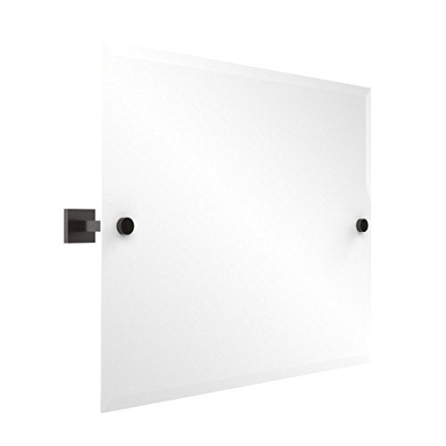 Allied Brass MT-93-ORB Montero Collection Contemporary Frameless Landscape Rectangular Tilt Mirror with Beveled Edge Oil Rubbed Bronze