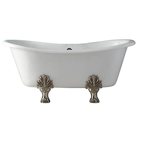 "Barclay Markus 66"" CI Dbl Slipper Tub,"