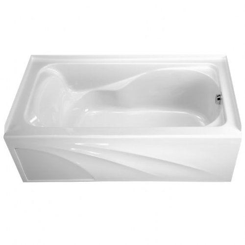 American Standard 2776.102.020 Cadet Bath Tub with Integral Apron and Right-Hand Outlet, White