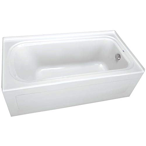 "PROFLO PFS7242RSKWH 72"" x 42"" Alcove Soaking Bath Tub with Skirt and Right Hand Drain"