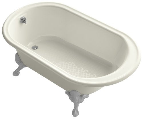 KOHLER K-710-B-96 Iron Works Historic Bath, Biscuit