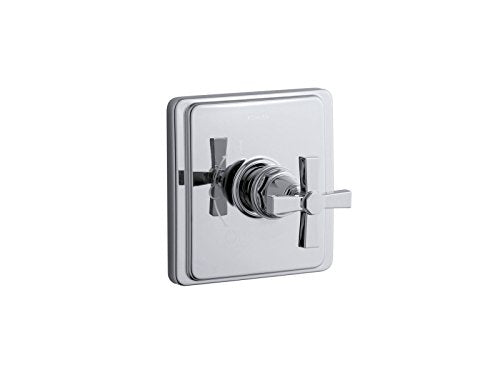 Kohler TS13135-3A-CP K-TS13135-3A-CP Pinstripe Pure Rite-Temp Valve Trim with Cross Handle Polished Chrome
