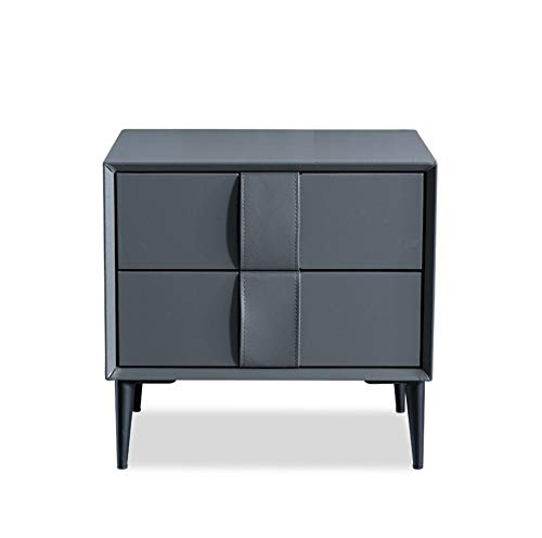 TangFeii Bedroom Bedside Table Nordic Simple Bedside Table Dark Gray Chest of Drawers Bedside Cabinet Bedroom Modern Locker