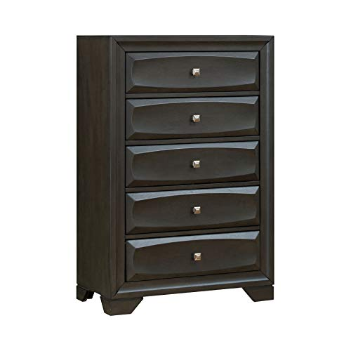 247SHOPATHOME IDF-7553C Sorena 5-Drawer Chest, Gray