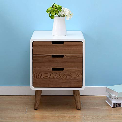 BJL-Bedside Table Bedside Table, Creative Modern Three-Story Drawer Bedroom Small Storage Storage Cabinet, Suitable for Living Room/Bedroom/Study, 3 Colors Available OYO (Color : Walnut)