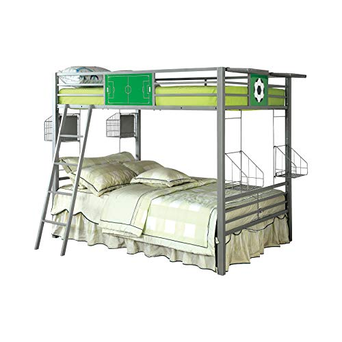 247SHOPATHOME IDF-BK927SCCR Wharten Bunk Bed, Double, Gray