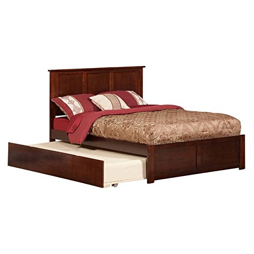 Leo & Lacey Urban Full Trundle Platform Bed in Walnut