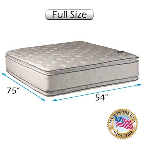 "Natural Dream Medium Soft PillowTop Mattress Only - (Full 54""x75""x12"") Double-Sided Sleep System with Enhanced Cushion Support- Fully Assembled, Back Support, Longlasting by Dream Solutions USA"
