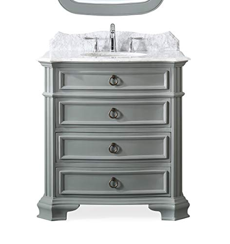 "32"" Termoli Gray Moden Bathroom Sink Vanity GD-2033CK"