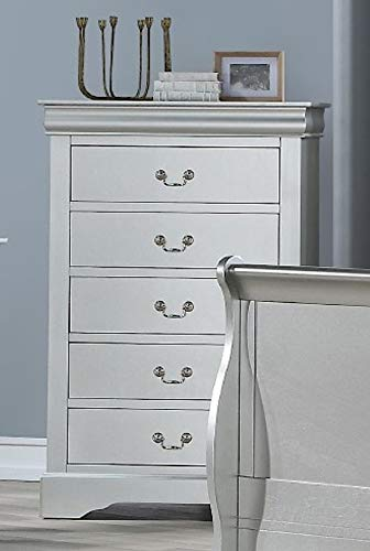 Acme Furniture Traditional Chest in Platinum Finish