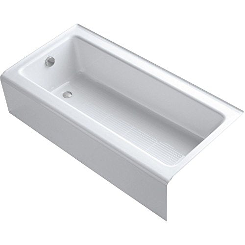 Kohler K-837-WH Bellwether Bath with Integral Apron and Left-Hand Drain, White