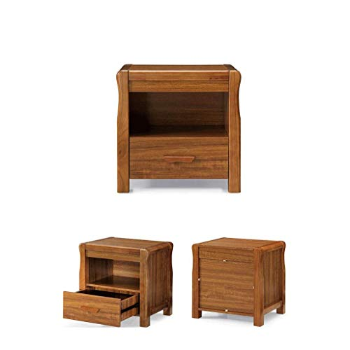 LRZS Modern Chinese Solid Wood Frame Bedside Table Mini Cabinet Simple Storage Bedroom Storage Cabinet Assembly Furniture