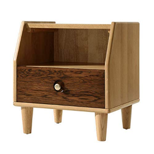 Nightstands Bedside Table Small Cabinet Multi-Function Cabinet Locker Bedside Cabinet Toy Cabinet Storage Box (Color : Wood Color, Size : 45.641.850cm)