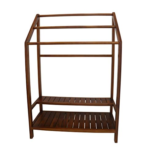 ALATEAK Shower Bath Spa Teak Towel Rack shelf