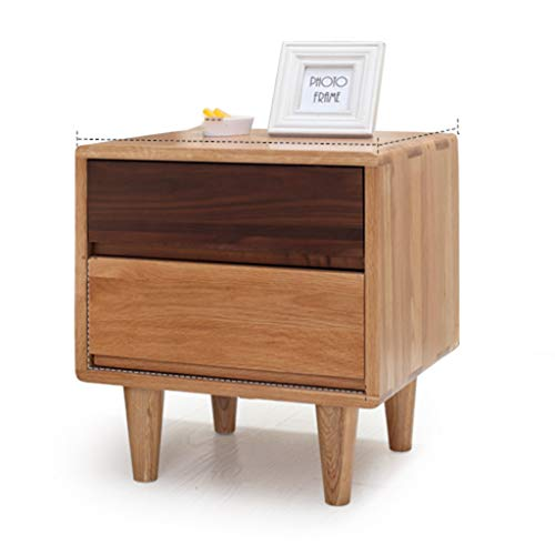 Nightstands Small Bedside Table Simple Corner Cabinet Economy Bedroom Modern Personality Mini Wooden Assembly Side Cabinet (Color : Brown, Size : 454050cm)
