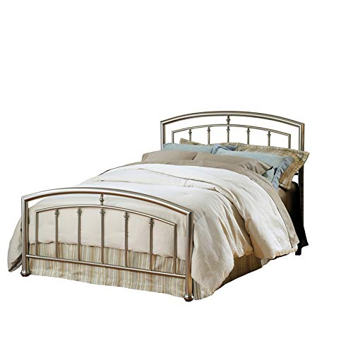 Hillsdale Claudia Queen Spindle Bed in Matte Nickel