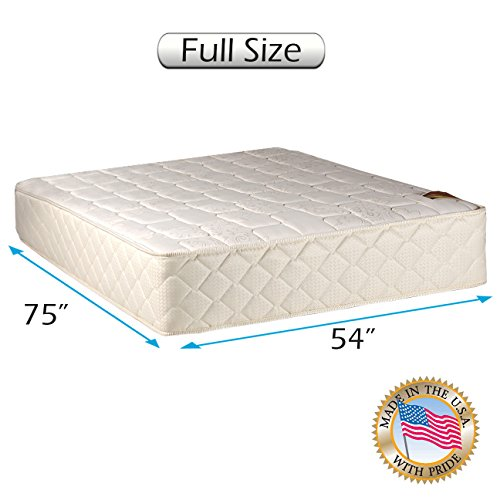 "Grandeur Deluxe Gentle Firm Full Size (54""x75""x12"") Mattress Only - Fully Assembled, Good for Your Back, Luxury Height, Long Lasting and 2 Sided by Dream Solutions USA"