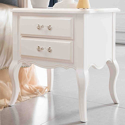 GFYRHCGDFHJDGVF European Simple Bedside Cabinet Drawer Assembly Anti-Fading nightstand Solid Color Wood Anti-Moisture Bedside Table-A 50x42x60cm(20x17x24inch)