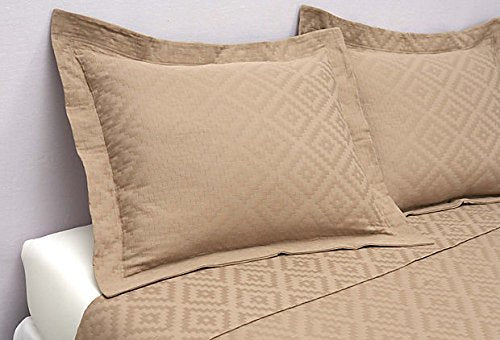 Peacock Alley Tuscany Diamond Matelasse 3-piece King Coverlet Set, Driftwood