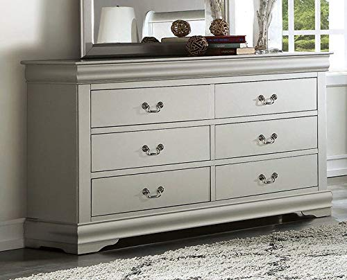Acme Furniture Traditional Dresser in Platinum