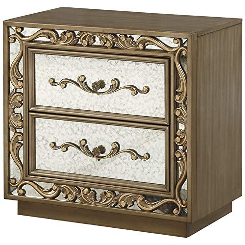 acme AC-23793 Nightstand, Antique Gold