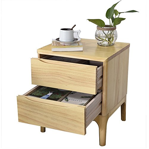 SYF Bedside Table|Bed Side Locker Large Capacity|Side Cabinet Solid Wood Bedroom Small Assembly Drawer|Multifunctional Solid Frame 42x40x50cm A+