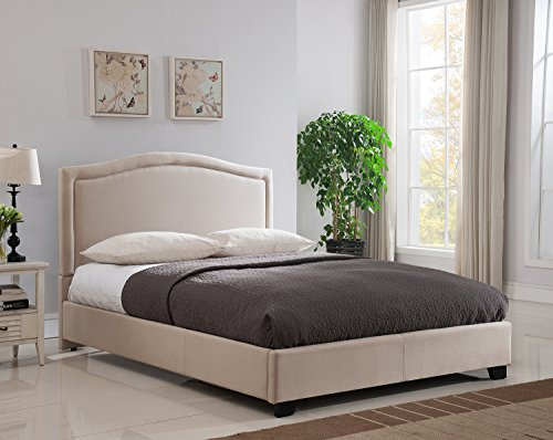 Mantua Annapolis Upholstered Platform Bed, King, Taupe, ABB66MT